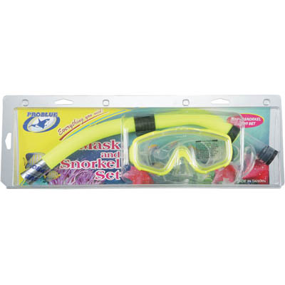 MS-120 silicone + SN-1042 pvc snorkelset / kinderen